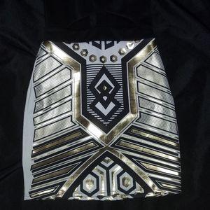 SOLEMIO Los Angeles Futuristic Bodycon Dress Sz 4